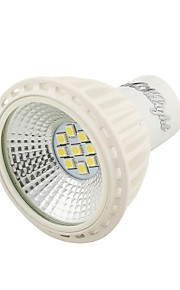youoklight® GU10 5W 380lm 9-2835 smd varm hvit / hvit ledet spotlight - hvit (ac 100 ~ 240v)