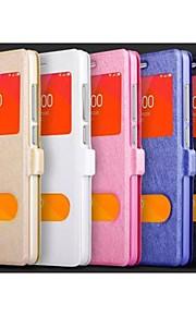Para Funda HTC con Soporte / con Ventana / Flip Funda Cuerpo Entero Funda Un Color Dura Cuero Sintético HTC