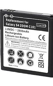 vervangende 2800mAh 3.8V batterij voor Samsung Galaxy S4 zoom / C101 / C1010