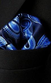 PH10 Shlax&Wing Paisley Blue Black Navy Pocket Square Mens Hankies Hanky