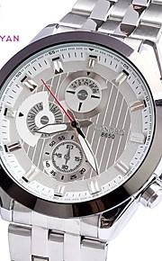 mostrador redondo strass liga relógio de pulso de quartzo dos homens (cores sortidas)