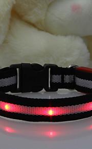 Kaulapannat - Nailon - LED valot - Punainen - Koirat / Kissat -