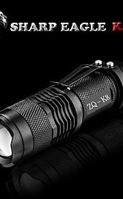 LED Lommelygter LED Tilstand 500LM LumensVanntett / Genopladelig / Nedslags Resistent / Glidesikkert Greb / Strike Bezel / Klemme / Lille