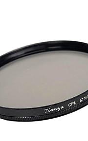 Tianya 67 milímetros cpl filtro polarizador circular para Nikon D7100 D7000 18-105 18-140 canon 700d lente 18-135mm 600d