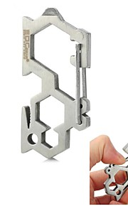 EDCGEAR Outdoor Stainless Steel Load Bearing Quick Release Buckle - Silver