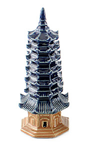 Sunsun Ceramic Little Tower Decoration for Fish Tank Aquarium
