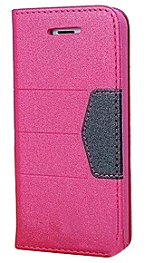 Powder PU Leather Full Body Case with Fashion Automatic Suction for iPhone 5/5S(Assorted Colors)