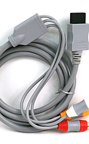 1.8M 5.904FT Wii 30Pin Male to 3RCA Male Gold-Plated Video Audio TV Display Connection Cable for Wii