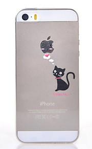 Bakdeksel - iPhone 5/iPhone 5S -Helfarge/Tegneserie/Spesielt Design/Gjennomsiktig/Original/Anime/Ultra Slim/Søt/Dyr/Vakker jente/Cool Word /