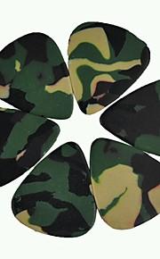 médio guitarra 0,71 milímetros pega palhetas celulóide camuflagem 100pcs-pack