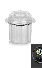 Water-Resistant Drop Protection Storage Box Case Container for Chips / Batteries / Gadgets - Translucent White