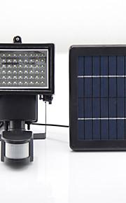 y-sol 60 leds soldrevne førte nødsituationer genopladelige lamper LED lys camping pir sensor udendørs sol lamper sl1-17