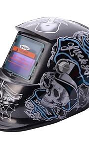 NEJE Skull Pattern Solar Auto Darkening UV/IR Protection Welding Helmet Goggles