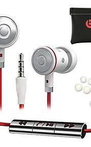 Auricolari - In-Ear - Classico - Microfono/Controllo del volume/Auricolari/Cancellazione del rumore - Con fili - Nero/Bianco