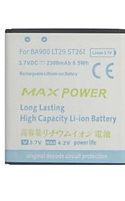 batería de repuesto - 2300 - Sony Ericsson BA900 - No