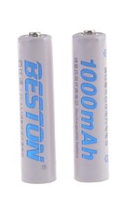 BESTON - Ni-CD - Aaa - Batterij - 1000mAh - ( mAh ) - 2 - pcs