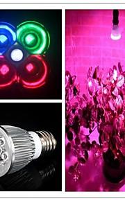 5W E26/E27 LED-drivhuslamper MR16 3 Høyeffekts-LED 500 lm Naturlig hvit / Rød / Blå / Grønn AC 85-265 V 1 stk.