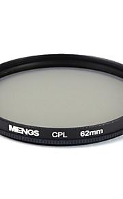 mengs® cirkulær 62mm CPL polariserende filter Protector med aluminiumsramme til digital kamera og SLR / DSLR / dc / videokamera