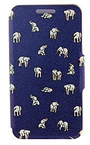 kinston® motif des éléphants indiens cuir PU couverture complète du corps avec support pour HTC Desire yeux / M910