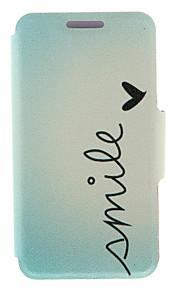 kinston® sourire modèle de dessin animé tous les jours en cuir PU couverture complète du corps avec support pour HTC Desire yeux / M910