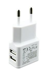 5v 2a eu stekker dubbele 2-poorts USB-lader voor iPhone 6 / 5s / 4 galaxy S5 / s4 nexus 5 universele Carregador de celular