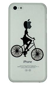 jente rir en sykkel mønster supertynn pc hardt bakdeksel tilfelle for iphone 5c