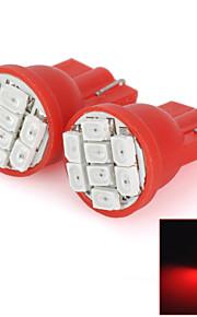 HY003 T10 0.25W 64lm 690nm 8-SMD 1206 LED Red Light Car Steering Light - (DC 12V / 2 PCS)