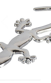 Silver Metal Gecko Car Stickers(10*4.5)