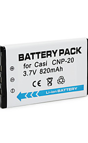 CNP20 - Li-ion - Batterij - voorfor Casio Exilim Card EX-S880 Exilim EX-M1 Exilim EX-M20U Exilim EX-S100WE Exilim EX-S20<br>Exilim EX-Z4