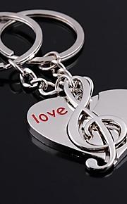 keychain chaveiro coração do casamento música para o dia dos namorados amante (um par)