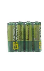 gp 4 stuks 1.5V AA carbon batterijen