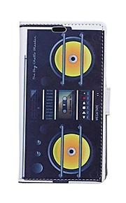 Tarjeta amarilla para patrones cuerno billetera de cuero de la PU caso de cuerpo completo para el deseo htc 826
