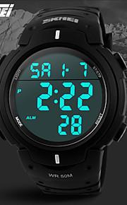 skmei® resistente desportivo LCD Digital relógio preto calendário de exibição dos homens / cronógrafo / alarme / água