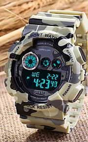esporte militar dos homens assistir japonês de quartzo era digital levou / calendar / cronógrafo / resistente à água / alarme (cores