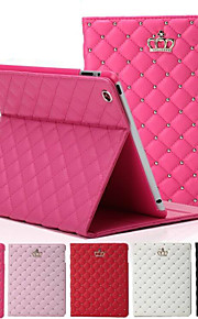 Crown Rhombus Diamond Leather Case Cover Stand for Apple iPad mini 1/2/3(Assorted Colors)