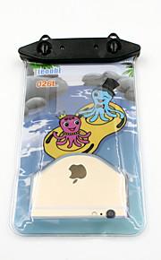 Universal 6 Inch Cartoon PVC Waterproof Phone Case 10 Meters Underwater Phone Bag Pouch Dry No.026 (All Models)