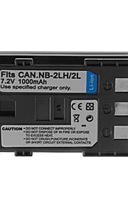 1000mAh camera batterij pack voor Canon NB-2L / 2LH