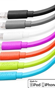 Wkae® MFi Certified 1M 8 Pin Lighting to USB Sync Data/Charging Flat Cable for iPhone 5/5S/6/6 Plus(Assorted Colors)