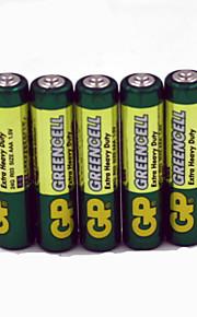 gp 5pcs 1.5V AAA carbon batterijen
