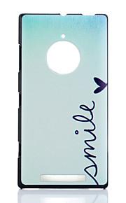 용 노키아 케이스 패턴 케이스 뒷면 커버 케이스 단어 / 문구 하드 PC Nokia Nokia Lumia 830