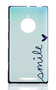 Para Funda Nokia Carcasa Funda Diseños Cubierta Trasera Funda Palabra / Frase Dura Policarbonato para Nokia Nokia Lumia 830