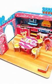 mode DIY 3d eps pap hånd arbejde puslespil for børn