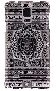 grande tpu disegno fiore nero IMD copertina morbida per Samsung Galaxy Note 4