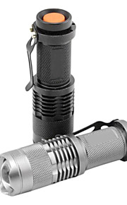 Lights LED Flashlights/Torch / Handheld Flashlights/Torch LED 1200 Lumens 1 Mode Cree XR-E Q5 14500 Adjustable Focus / Waterproof