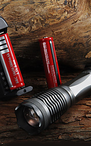LED Lommelygter / Lommelygter LED 5 Tilstand 2000 Lumens Justerbart Fokus Cree XM-L T6 18650 / AAACamping/Vandring/Grotte Udforskning /