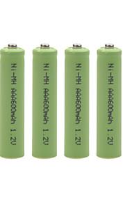 1.2V 600mAh AAA oplaadbare NiMH-batterij (4 stuks)