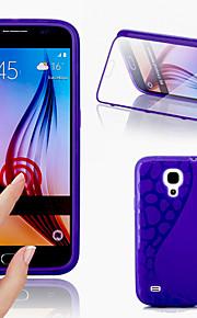 grande d tocco vista tpu&copertura di vibrazione del silicone per Samsung Galaxy S4 Mini i9190 (colori assortiti)