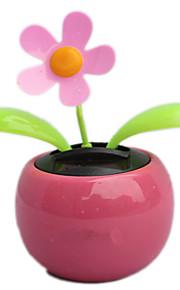 cor rosa flip flap brinquedo movido a dança balanço flor automóvel carro energia solar