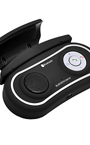 Bluetooth Handsfree Car Kit Clipped On Car Steering Wheel, Bluetooth 3.0+EDR Can Support Two Phones Simultaneously