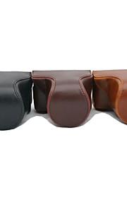 dengpin pu óleo da pele saco de couro caso câmera destacável para gf7 Panasonic com a lente 12-32mm 14-42mm (cores sortidas)